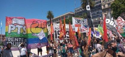 Marcha del Orgullo: la izquierda hizo un acto en Plaza de Mayo