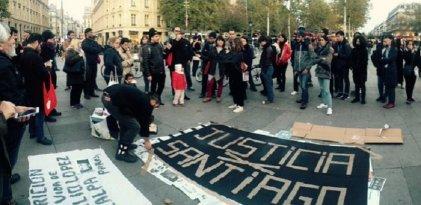 En París y Berlín pidieron justicia por Santiago Maldonado
