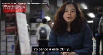 """Elecciones CEFyL-UBA 2018: se presentó la lista 4: """"La Izquierda al Frente"""""""