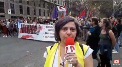 [Video] Informe desde Barcelona: marcha en repudio a la represión y por la libertad de los presos