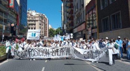 [Video] Paro y movilización de trabajadores de la salud en la Ciudad de Buenos Aires
