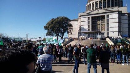 San Nicolás: el SMATA movilizó a la Virgen