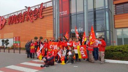 Ola de huelgas y protestas contra Carrefour en varios países de Europa