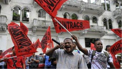 Trabajadores de la construcción realizan huelga en Panamá