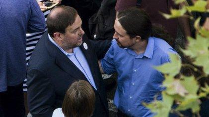 Estado español: Pablo Iglesias visita al líder independentista Oriol Junqueras en la cárcel de Barcelona