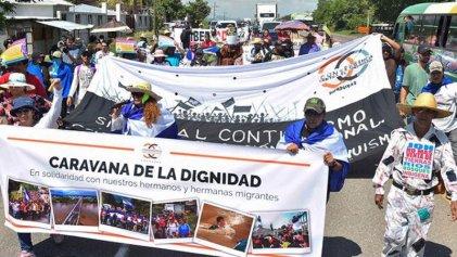 """Honduras: inició la """"Caravana de la Dignidad"""" en apoyo a migrantes rumbo a Tegucigalpa"""