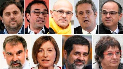 Piden hasta 25 años de prisión a líderes independentistas catalanes por Referéndum del 1-O