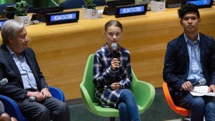 """Cumbre juvenil climática: Guterres dijo que """"los políticos escuchan poco"""" y Greta que vendrá a la Argentina"""
