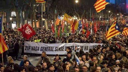 Huelga general en Cataluña por la libertad a los presos políticos