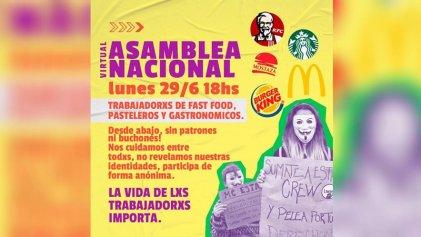 Contra el empleo chatarra: primera asamblea nacional de trabajadores de comidas rápidas