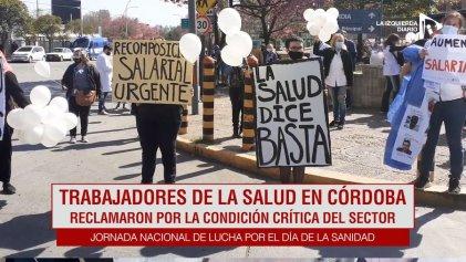 [Video] Trabajadores de la salud se movilizaron para denunciar situación crítica del sector