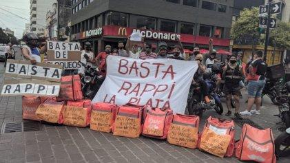 La Plata: trabajadores de las apps reclaman suba de salarios y mejores condiciones laborales