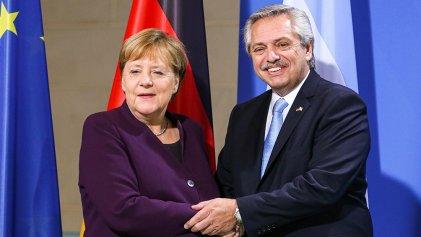 Alberto Fernández se reúne con Angela Merkel para fortalecer la negociación con el FMI