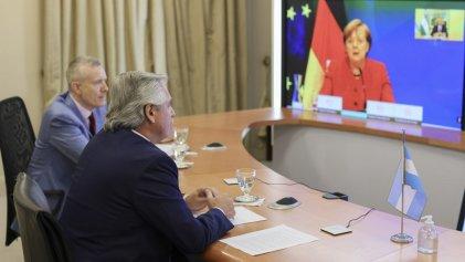 Alberto Fernández agradeció a Merkel el apoyo de Alemania a la negociación con el FMI