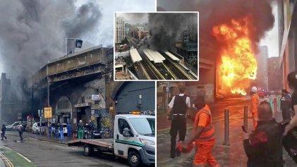 Explosión e incendio en el metro de Londres