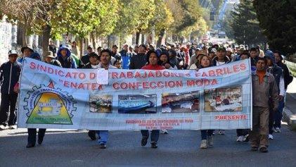 La Central Obrera Boliviana realiza paro nacional