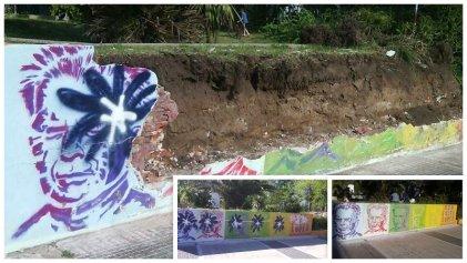 Destrucción de mural en memoria de Jorge Julio López en la tierra de Grindetti