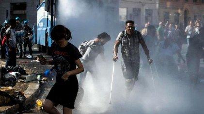 Violenta represión en Roma contra refugiados