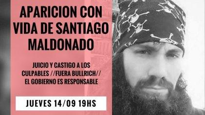 Convocan acto por la aparición con vida de Santiago Maldonado en Barcelona