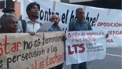 [Videos] Protestan en Venezuela contra la represión a los trabajadores en lucha