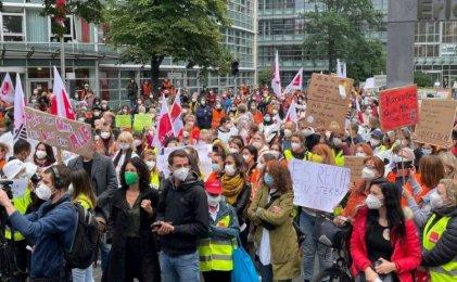 Berlín: trabajadores de la salud convocan a una nueva movilización por sus demandas