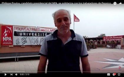 Francia: Philippe Poutou se solidariza con los trabajadores de Pepsico