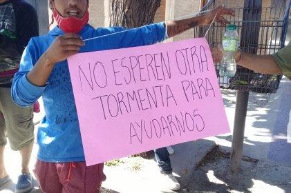 [Video] Los reclamos del oeste de Godoy Cruz por vivienda digna llegaron a la municipalidad