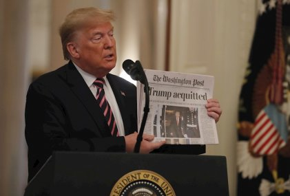 Trump celebró el fin de su juicio político
