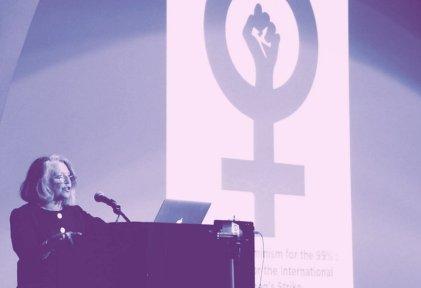 Acto en Nueva York por un feminismo del 99 %
