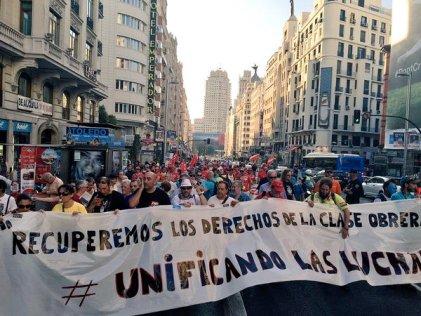 Gran jornada de manifestación y coordinación obrera en Madrid