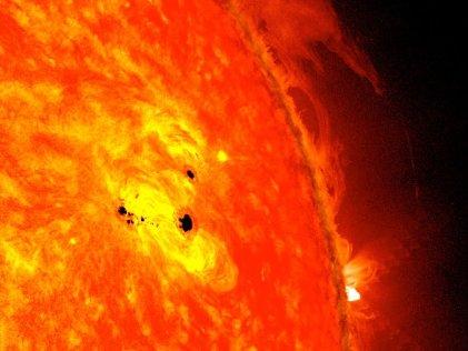 ¿Es el Sol una bola de fuego?