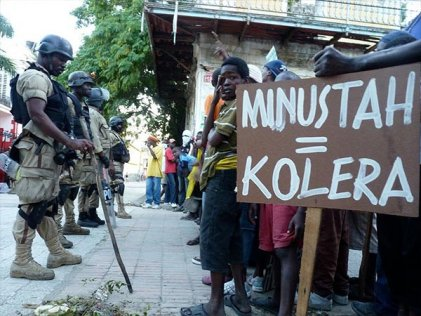 Las tropas de la ONU son responsables de la epidemia de cólera en Haití