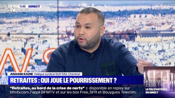 Anasse Kazib, ferroviario francés y militante del NPA, amenazado de muerte por la extrema derecha