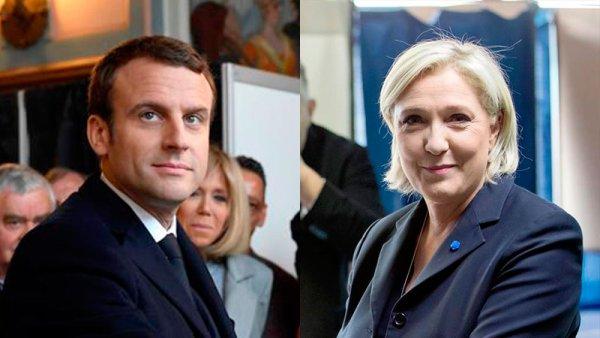 Macron y Le Pen a segunda vuelta