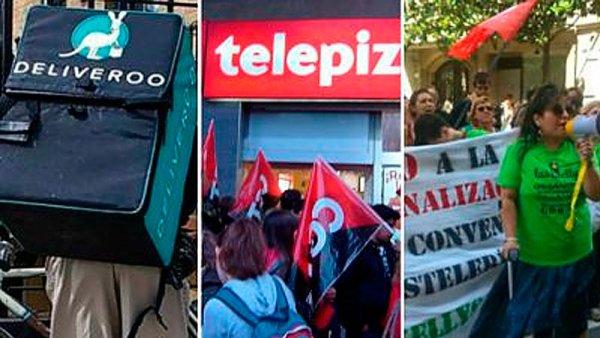 Deliveroo, Telepizza, Kellys... ¿la rebelión de la precariedad?